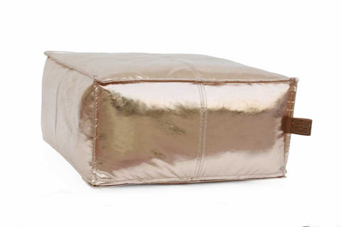 JACKSON Square Rose Gold Pouf