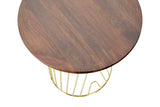 JACKSON // SIDE TABLE // Walnut & Gold