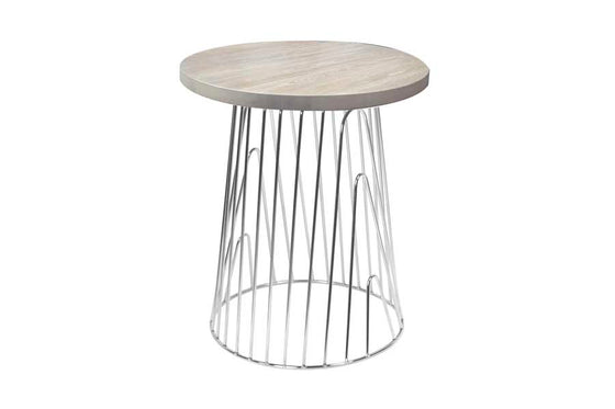 JACKSON // SIDE TABLE // Oak & Chrome