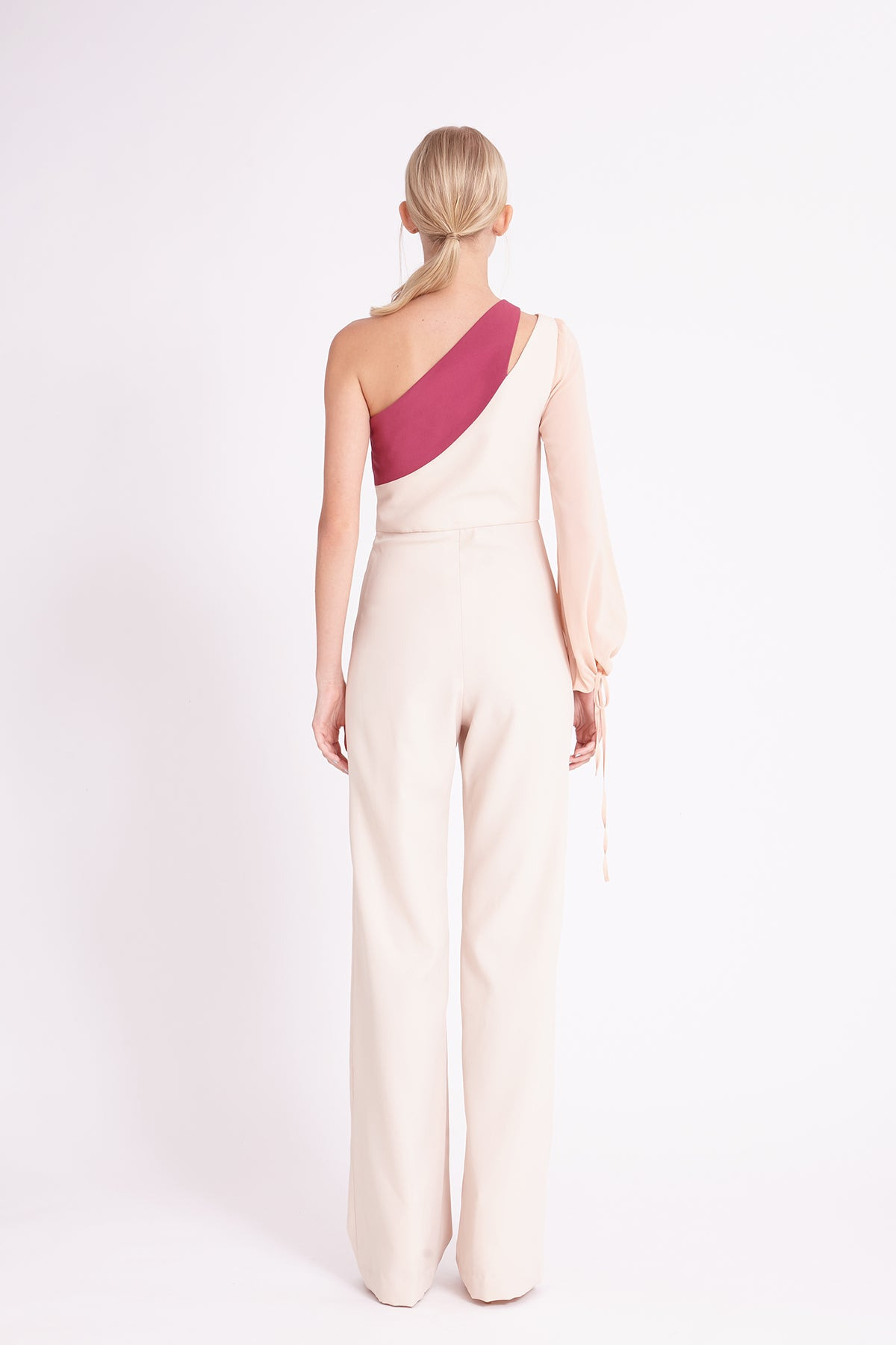 ZM021813J : ONE-SHOULDER JUMPSUITS