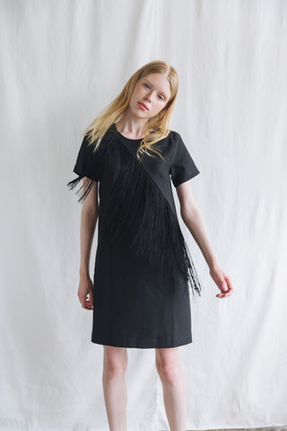 ZP091702DBK (ZX021631) : FRINGE DRESS