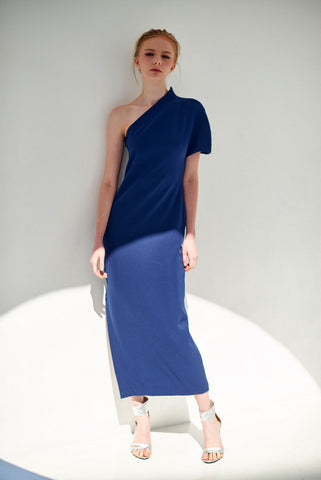 ZX021602 : ONE-SHOULDER MAXI DRESS