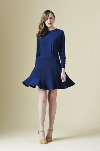 ZZLong sleeves Dress with ruffle hem