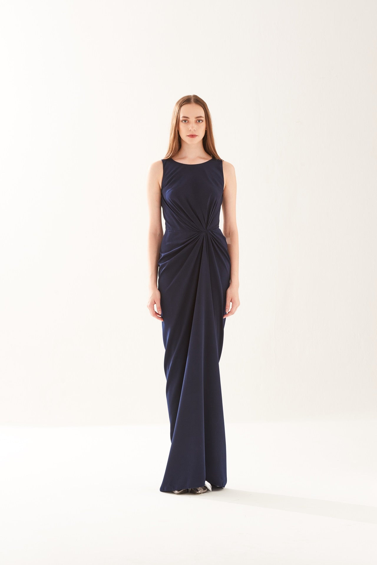 ZS021715DNV : DRAPED DRESS