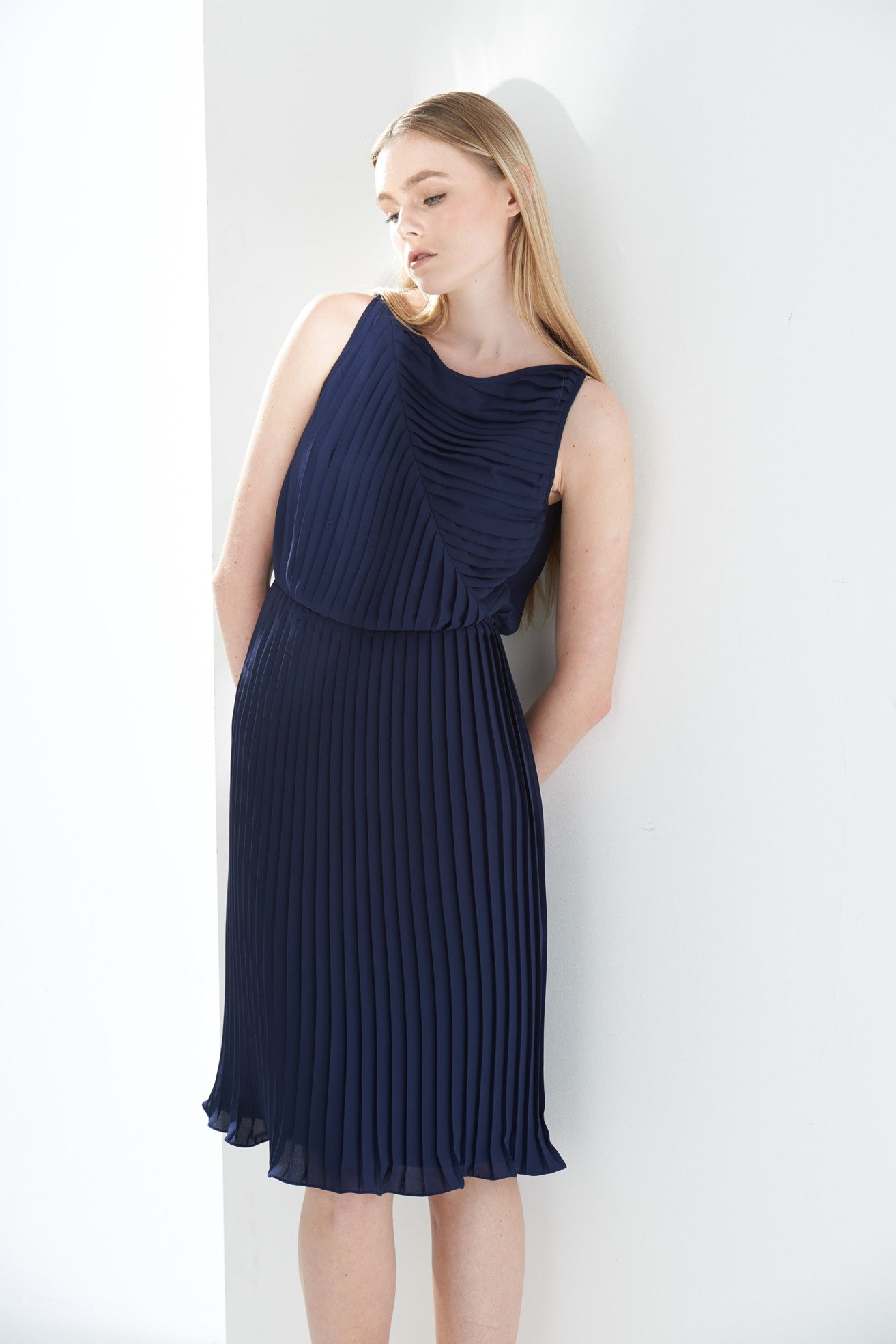 ZZ031509 Pleated Dress