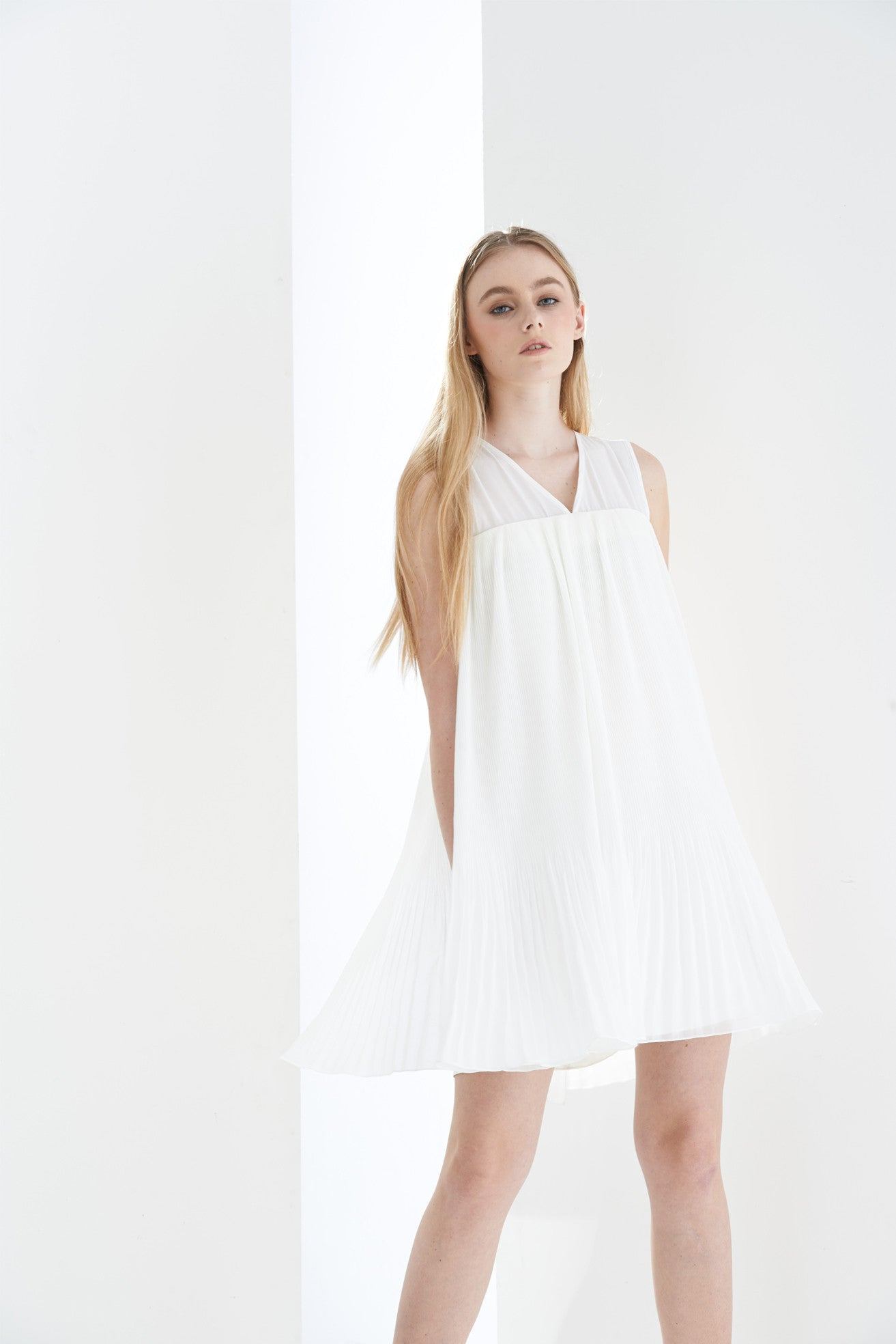ZZ031512 Pleated Dress