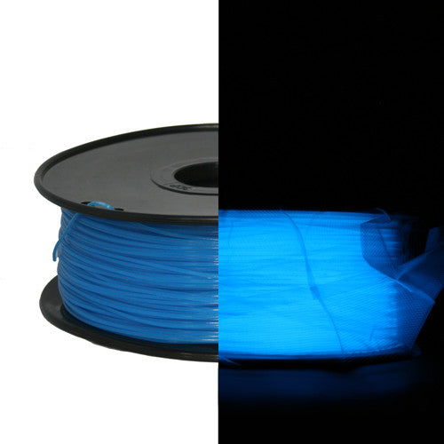 Blue Glow in Dark ABS 3D Printer Filament 1.75mm 1kg - 3D Printing SA