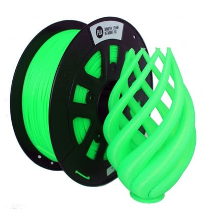 Fluorescent Green PLA 3D Printer Filament 1.75mm 1kg