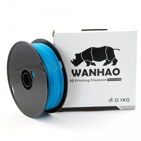 Wanhao Peacock Blue PLA 3D Printer Filament 1.75mm 1kg