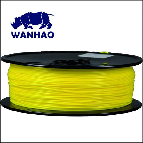 Wanhao Yellow PLA 3D Printer Filament 1.75mm 1kg