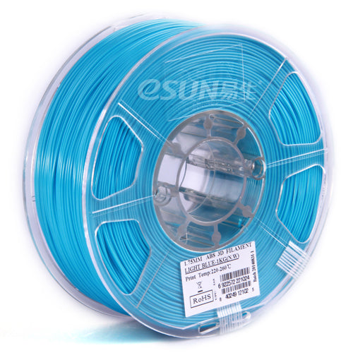 Light Blue ABS 3D Printer Filament 1.75mm 1kg