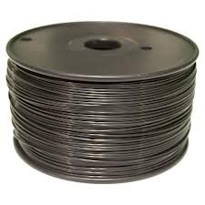 Black PLA 3D Printer Filament 1.75mm 1kg