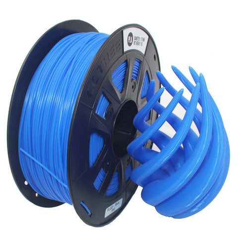 Blue Flourescent PLA 3D Printer Filament 1.75mm 1kg