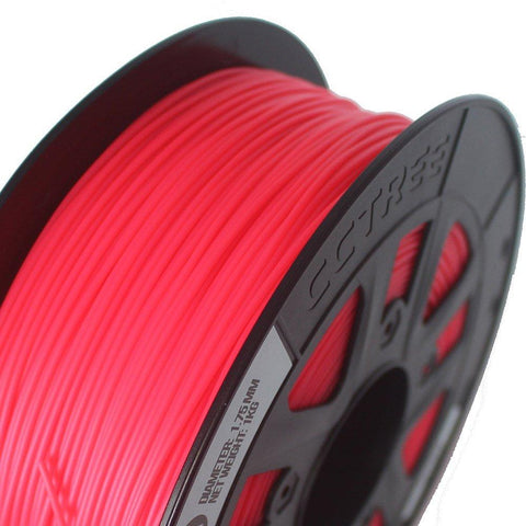 Fluorescent Red PLA 3D Printer Filament 1.75mm 1kg