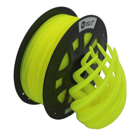 Fluorescent Yellow PLA 3D Printer Filament 1.75mm 1kg