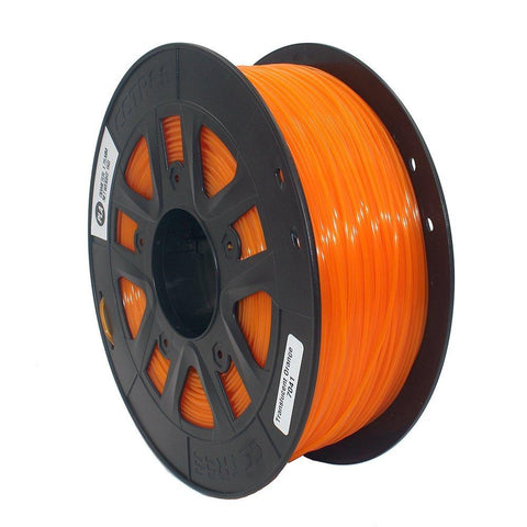 Transparent Orange PLA 3D Printer Filament 1.75mm 1kg