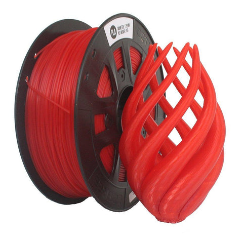 Transparent Red PLA 3D Printer Filament 1.75mm 1kg