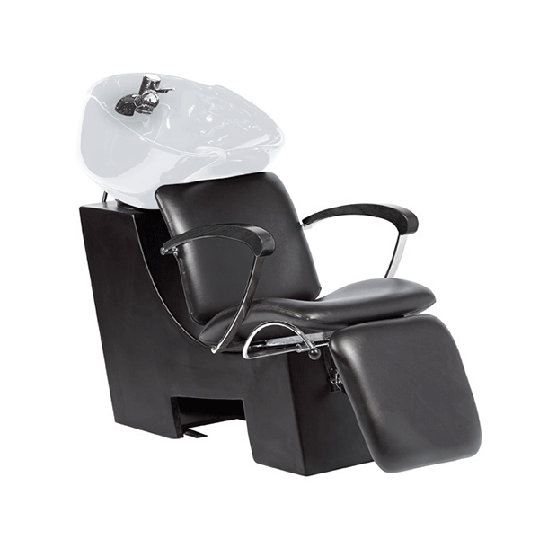 V. Wien, Chair Black, Basin White, Black Armrest