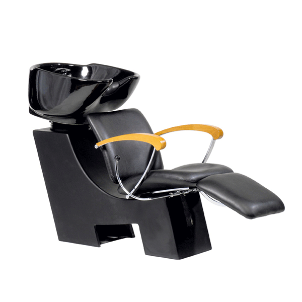V. Wien, Chair Black, Basin White, yellow Armrest