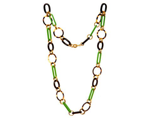Multi-link Chain Necklace in Apple by Bellissima