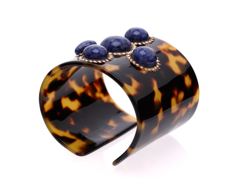 Cabochon Cuff with Lapis by Bellissima