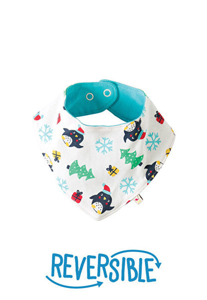 Dribble bib - Penguin Party - Frugi - Jurnie - 1