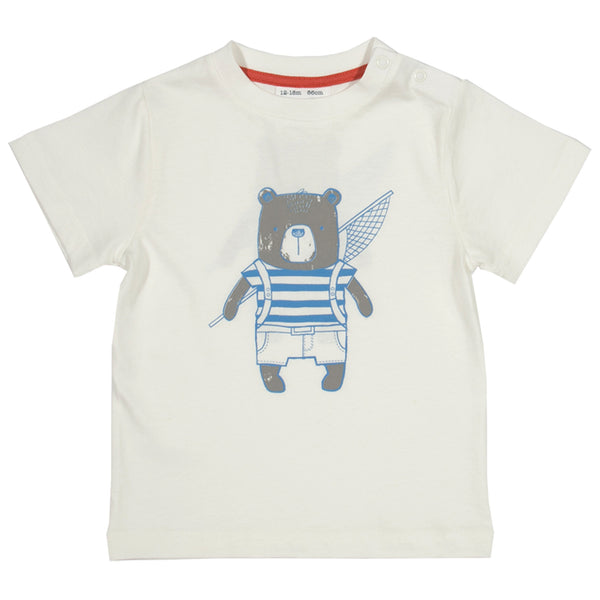 Travelling Bear T-shirt - Kite - Jurnie - 1