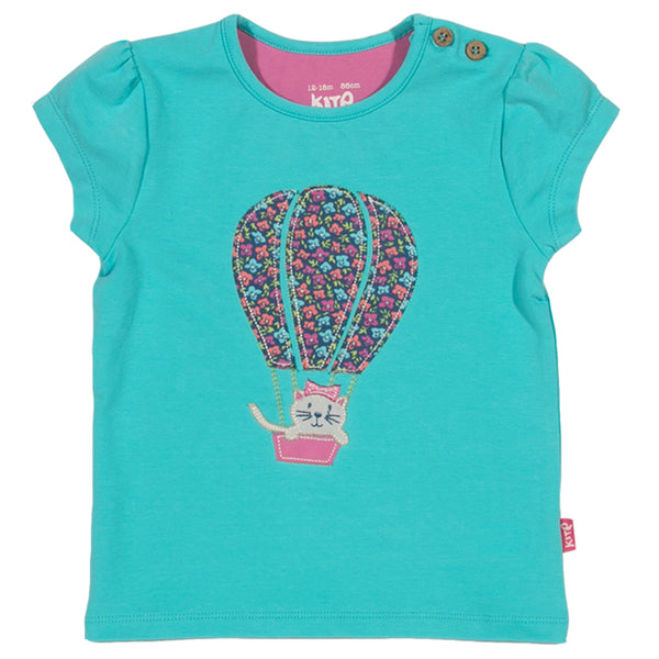 Kitty Balloon T-shirt - Kite - Jurnie - 1