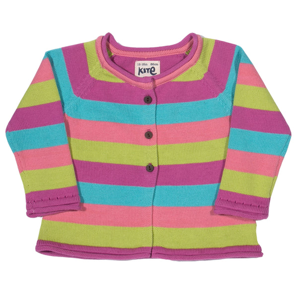 Stripy Flower Cardigan - Kite - Jurnie - 1