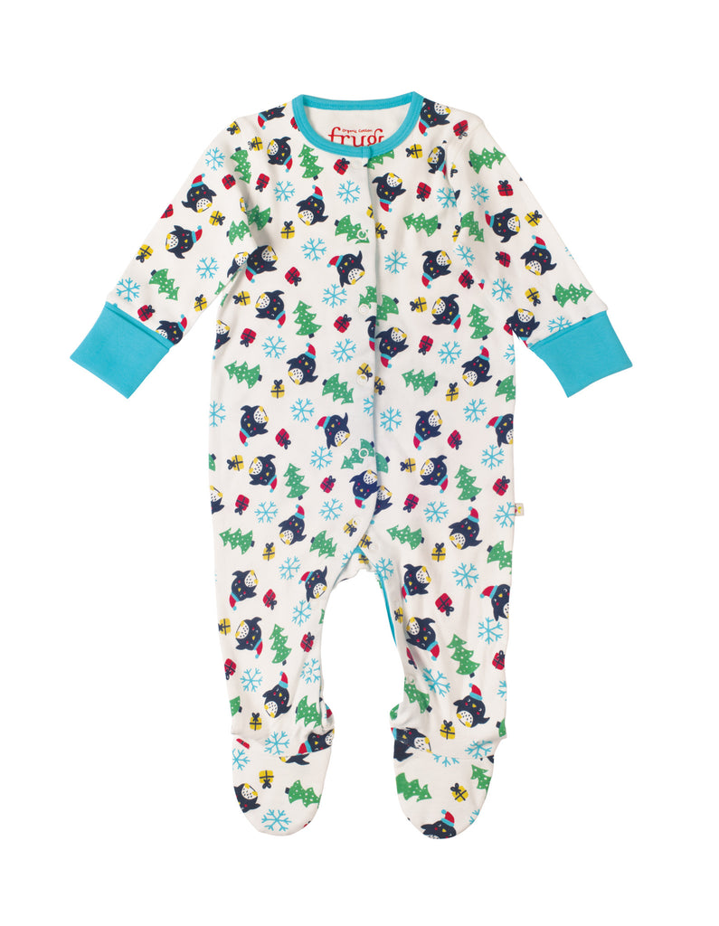 Lovely babygrow - Penguin Party - Frugi - Jurnie - 1