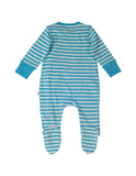 Swoop Babygrow - Blue Stripe/Bus - Frugi - Jurnie - 2