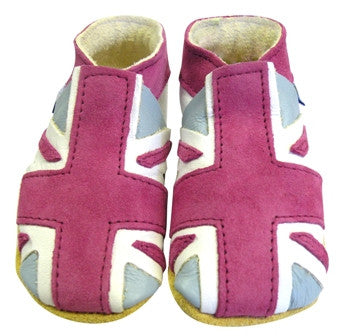 Union Jack pink leather shoes - Daisy roots - Jurnie