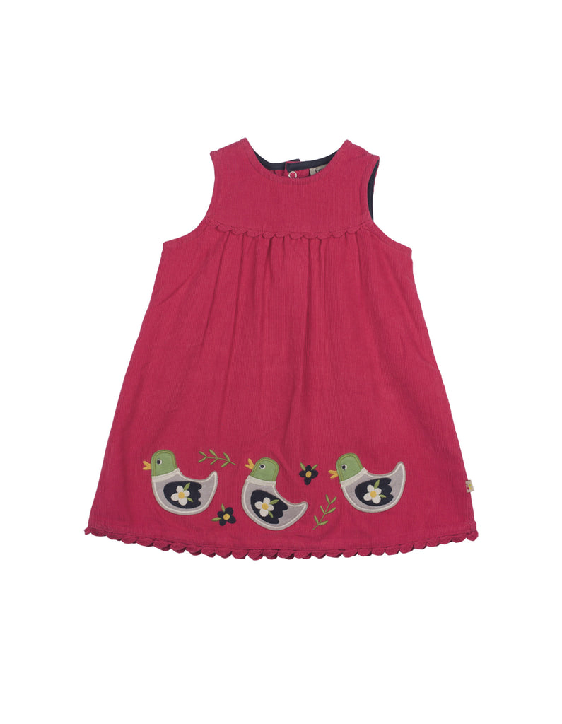 Lily Cord Dress - Duck - Frugi - Jurnie - 1
