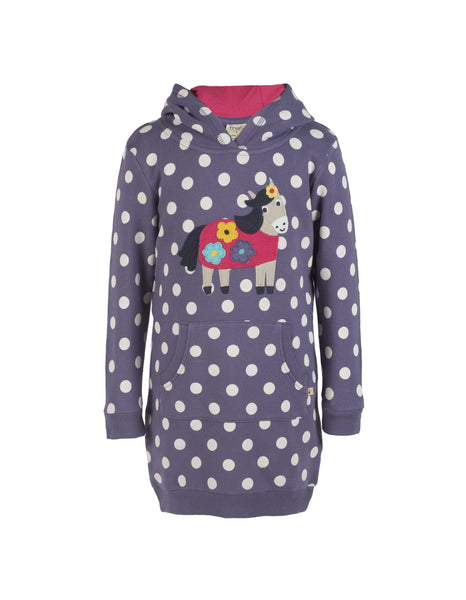 Harriet Hoody Dress - Horse - Frugi - Jurnie - 1
