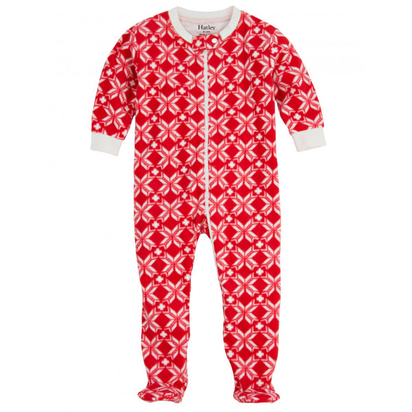 Footed fleece snowflake babygrow - Hatley - Jurnie
