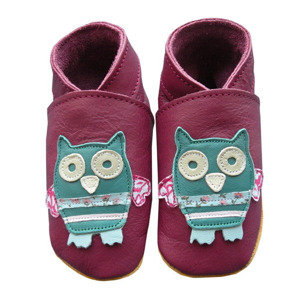 Purple Owl leather shoes - Daisy roots - Jurnie