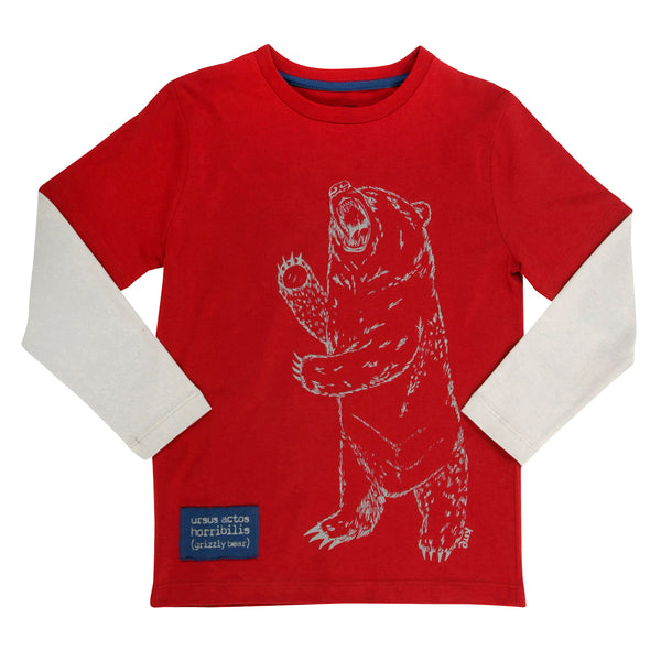 Grizzly bear print tee - Kite - Jurnie - 1
