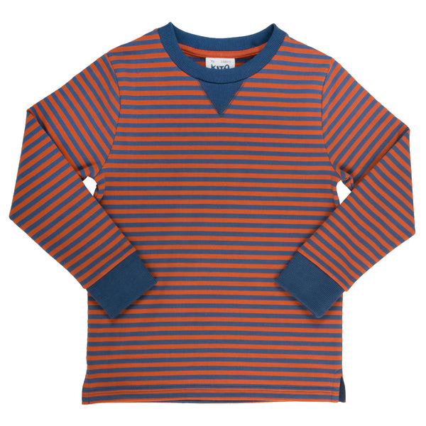 Narrow stripe sweatshirt - Kite - Jurnie - 1