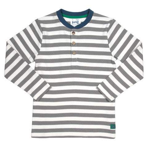 Stripy Grandad Top - Kite - Jurnie - 1