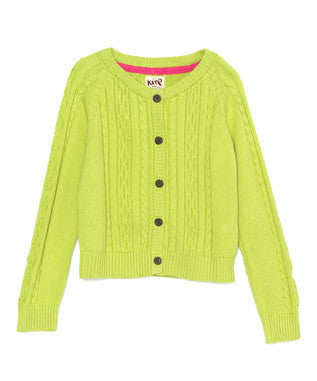 Lime cable knit cardie - Kite - Jurnie - 1