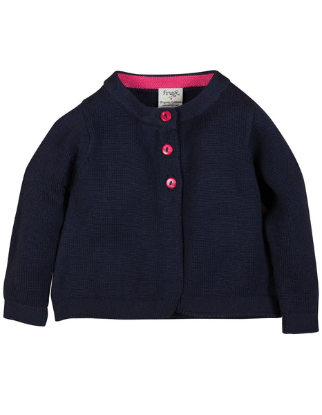 Little Isobel Cardigan - Navy - Frugi - Jurnie