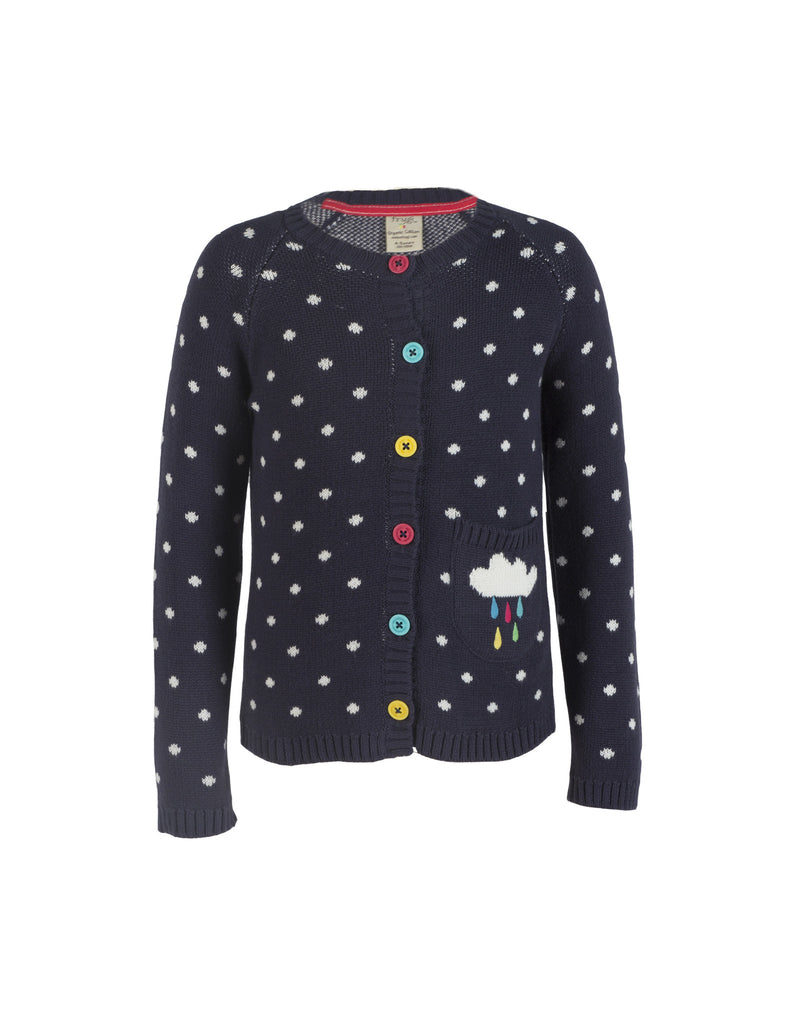 Dotty Cardigan - Navy/Cloud - Frugi - Jurnie - 1
