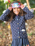 Dotty Cardigan - Navy/Cloud - Frugi - Jurnie - 4