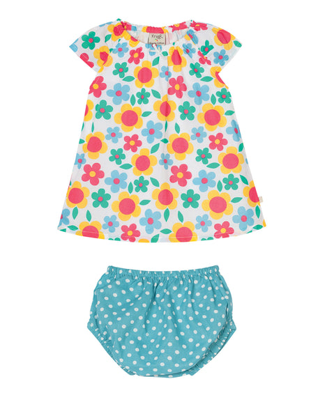 Penpol Dress and Pants Set - Summer Garden - Frugi - Jurnie - 1