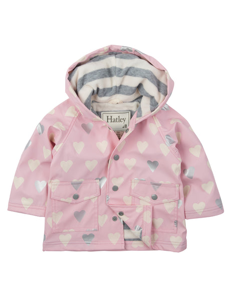 Hatley Metallic Hearts Raincoat - Hatley - Jurnie - 1