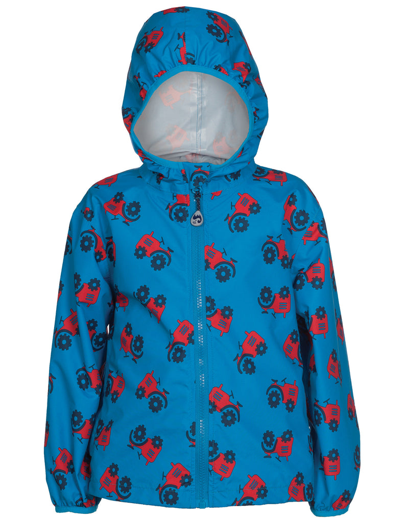 Puddle Buster Packaway Jacket -  Rainy Day Tractor - Frugi - Jurnie - 1