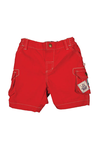 Patch Pocket shorts - Red - Frugi - Jurnie - 1