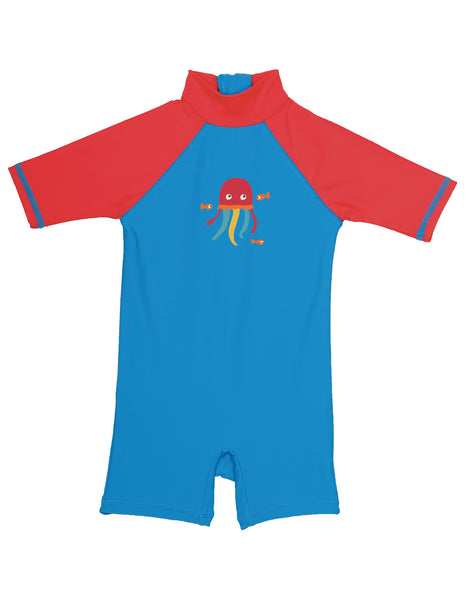 Little Sun Safe Suit - Diver Blue/Jellyfish - Frugi - Jurnie - 1