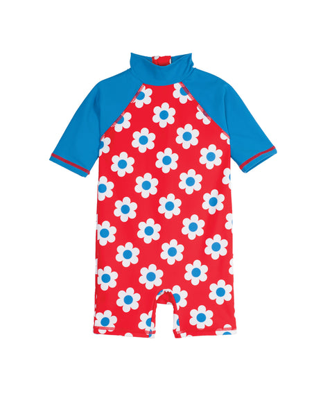 Little Sun Safe Suit - Seaside Flower Spot - Frugi - Jurnie - 1