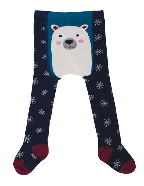 Tiggy Tights - Navy Snowflakes - Frugi - Jurnie - 1